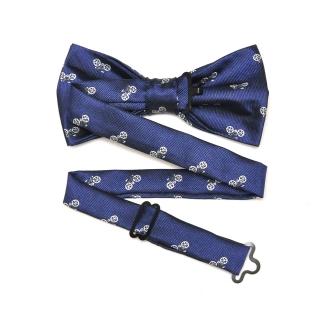 Синий галстук с велосипедами