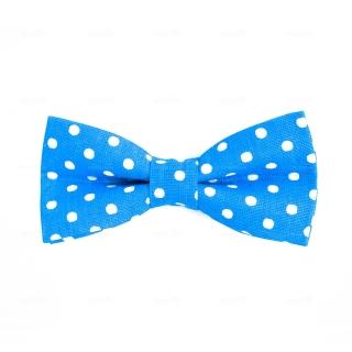 Купить голубую дизайнерскую галстук-бабочку