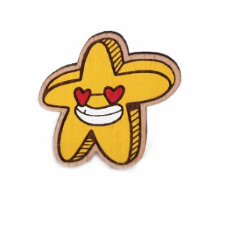 Деревянный значок #071 (звезда)