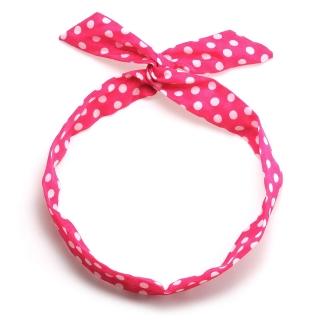 Розовая повязка солоха в горошек