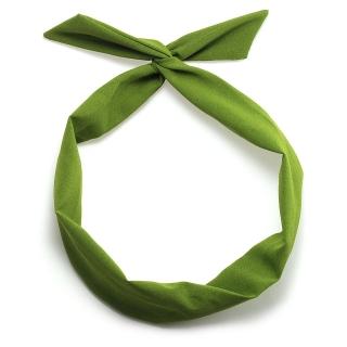 Зеленая солоха повязка на голову