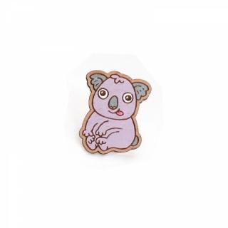 Деревянный значок коала