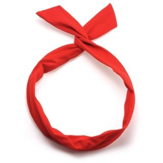 Красная солоха повязка в винтажном стиле