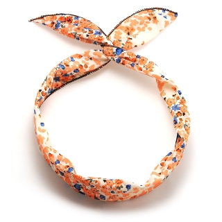 Солоха на голову с оранжевыми цветами