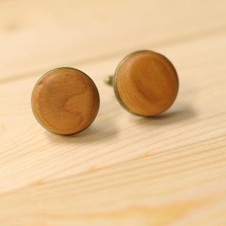 Деревянные запонки круглые