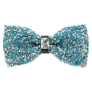 Купить модную галстук-бабочку из плотной хлопковой ткани с узором в виде кристаллов