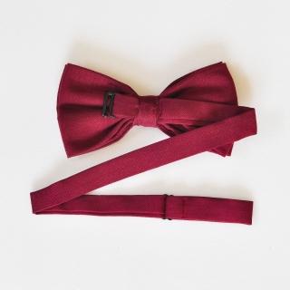 Бордовый галстук-бабочка