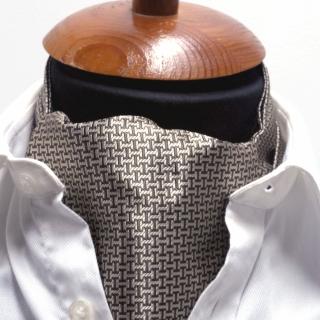 Купить галстук Аскот шейный платок с узором гусиные лапки