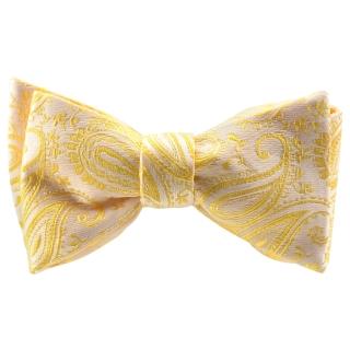 Галстук-бабочка #827 (золотистый пейсли)
