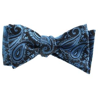 Галстук-бабочка #823 (синий пейсли)