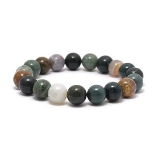 Браслет из камней #043 (яшма зеленая)