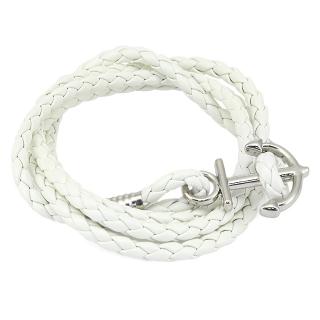 Плетеный браслет #047 (белый)