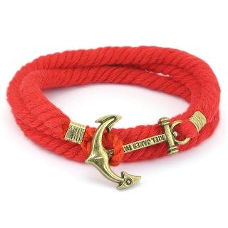 Веревочный браслет #051 (красный)