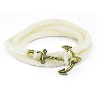 Веревочный браслет #052 (белый)