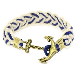 Плетеный браслет #060 (якорь)