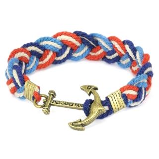 Плетеный браслет #061 (якорь)