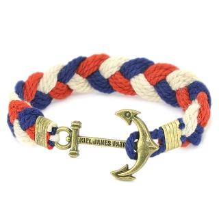 Плетеный браслет #062 (якорь)