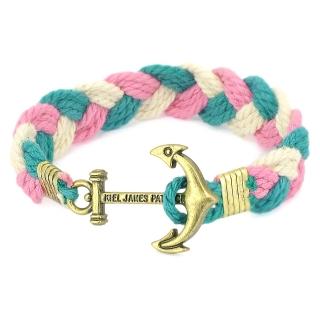 Плетеный браслет #063 (якорь)