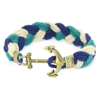 Плетеный браслет #064 (якорь)