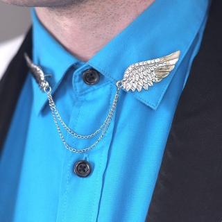 Уголки на воротник с крыльями