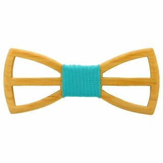 Деревянный галстук-бабочка с вырезами