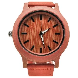 Деревянные часы #003 (красные)