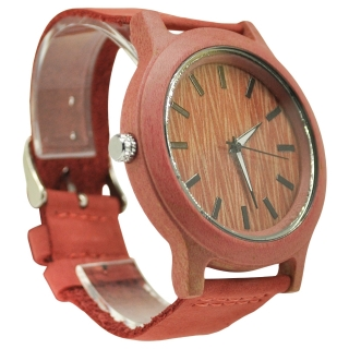 Деревянные часы из натурального дерева