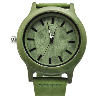 Деревянные часы #004 (Зеленые)