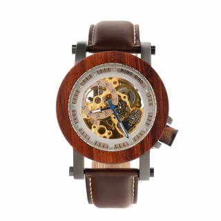Деревянные часы #005 Hommer Brown