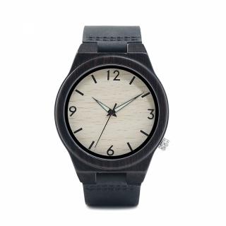 Деревянные часы #010 Alpros-blаck