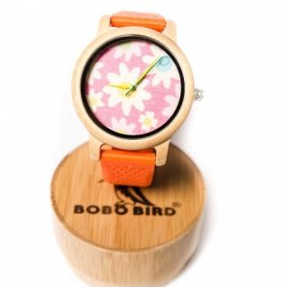 Деревянные часы #021 Pink