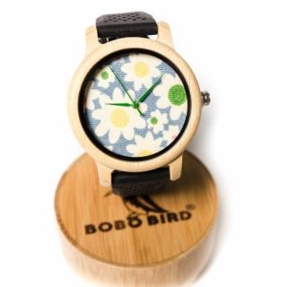 Деревянные часы #024 Black