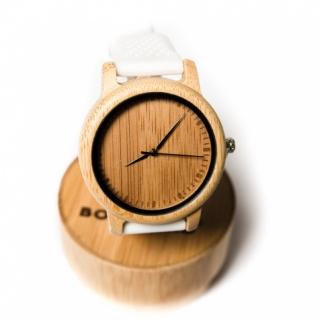 Деревянные часы #025 White