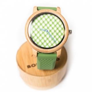 Деревянные часы #029 Green
