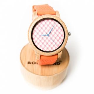 Деревянные часы #030 Orange
