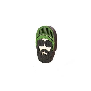 Деревянный значок #006 (Бородач)