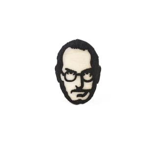 Деревянный значок Стив Джобс