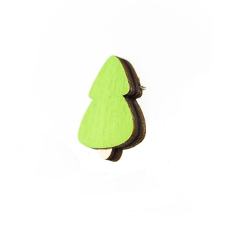 Деревянный значок елочка
