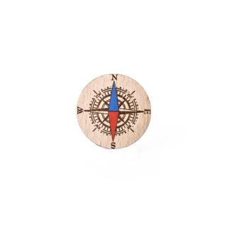 Деревянный значок #009 (Компас)