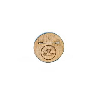 Деревянный значок компас