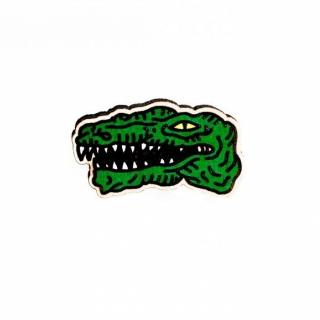 Деревянный значок крокодил