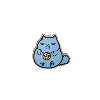 Купить значок обиженный кот