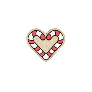 Деревянный значок сердце