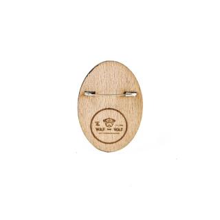 Деревянный значок скрипичный ключ