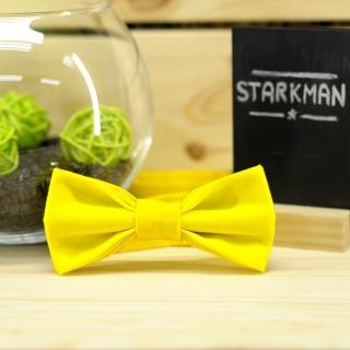 Детский желтый галстук-бабочка