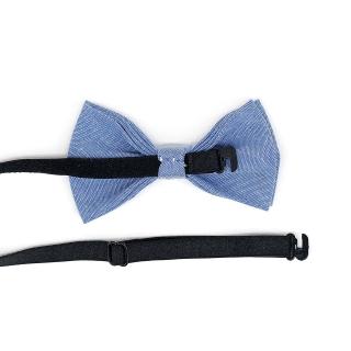 Голубой детский галстук-бабочка