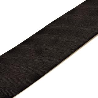 Полосатый черный галстук