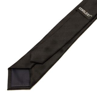 Узкий галстук #026 (черный)