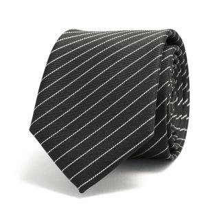 Черный галстук с белыми полосками