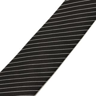 Узкий галстук с белыми полосками